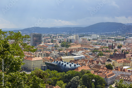 Foto op Aluminium Panoramic view to Graz, Austria