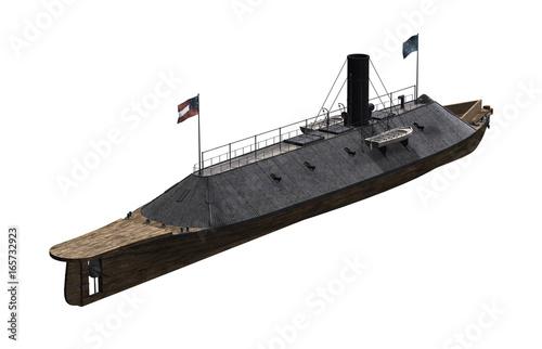 Photo  CSS Virginia - Ironclad Civil War Warship