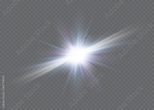 Fototapeta Glow light effect. Star burst with sparkles.Sun obraz na płótnie