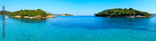 View from Ksamil beach, Albania. Canvas Print