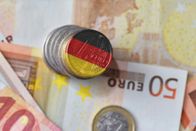 Euro Coin With National Flag O...