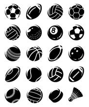 Sport Balls Set. Vector