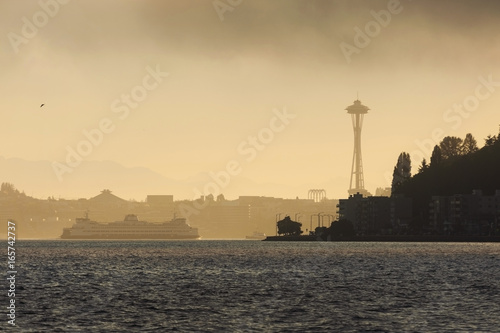 Foggy Seattle Morning Canvas Print