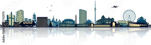 Fotografie, Obraz  Stuttgart Skyline
