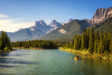 Rafting On The Bow River Near ...