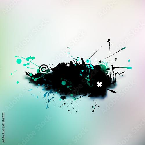 Keuken foto achterwand Vlinders in Grunge Watercolor Grunge colorful banner background. Vector illustration.