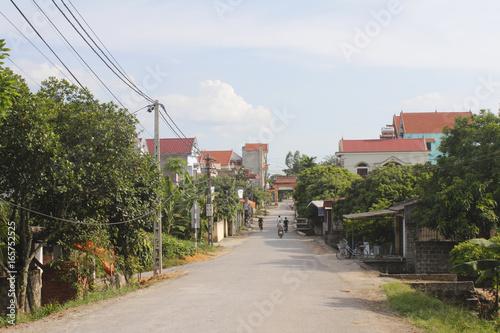 HAI DUONG, VIETNAM, JULY 30: Gate in vietnamese rural