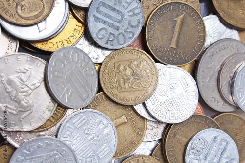 Olc history coins money closeup texture studio photo  - Buy this