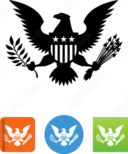 Fototapeta  Great Seal Of The United States Icon - Illustration