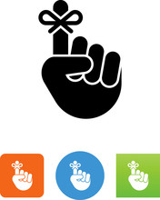 Hand With String Tied On One Finger Icon - Illustration