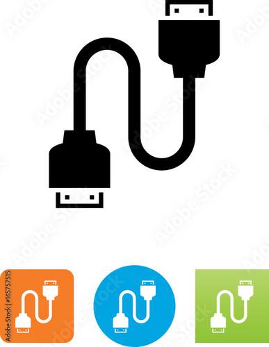 hdmi to hdmi cable icon illustration buy this stock vector and explore similar vectors at adobe stock adobe stock adobe stock