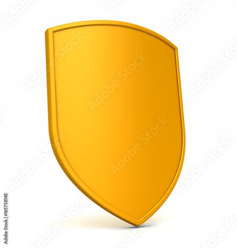 Gold Shield Angle Canvas Print