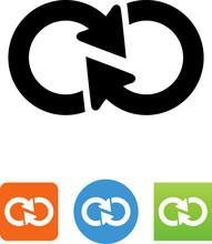Infinite Loop Arrow Icon - Ill...