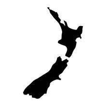 New Zealand Map.