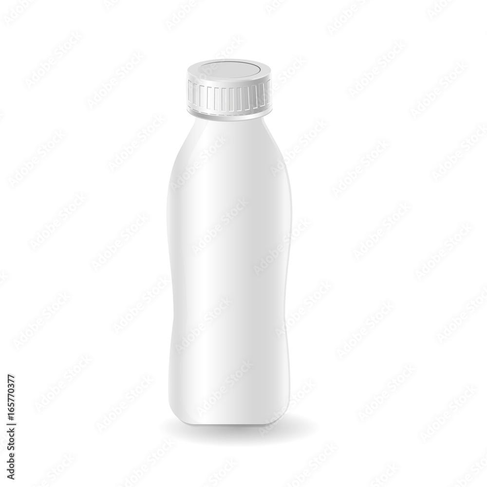 Photo Art Print Plastic Template Milk Bottle Yogurt