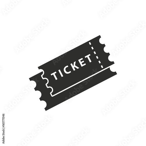 Fotomural  Ticket vector icon.