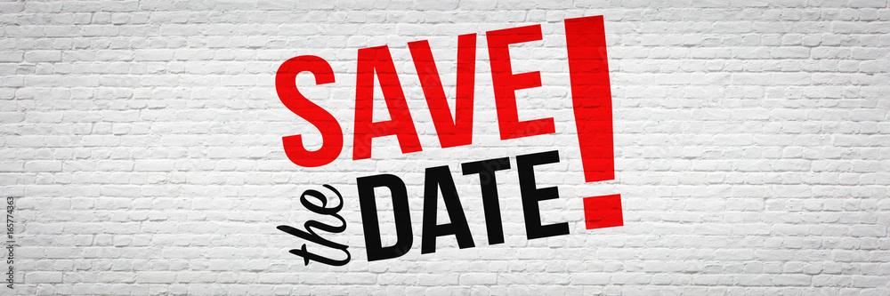 Fototapety, obrazy: Save the date !