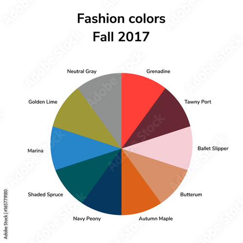Vector Ilration Infographics Trendy Colors Of The 2017 Fal