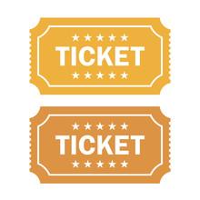 Old Cinema Ticket Vector Illustration