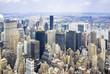 Città di Manhattan dall'alto