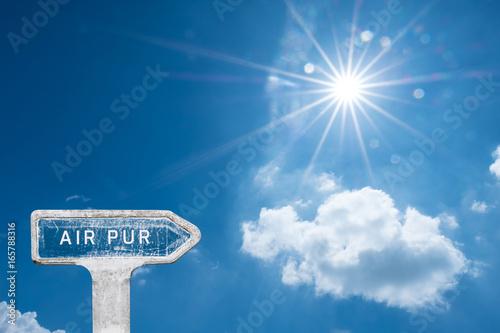 Fotografía  air pur respirer pollution CO2 nuage ciel bleu soleil environnement purifier res