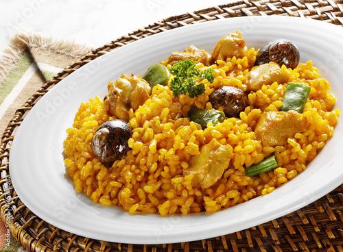 spanish traditional paella dish