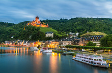 Cochem Imperial Castle In Germ...