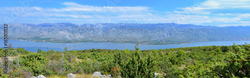Panorama of Velebit mountains Canvas Print