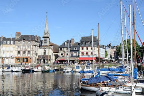 Canvas Prints Ship Hafen von Honfleur, Normandie