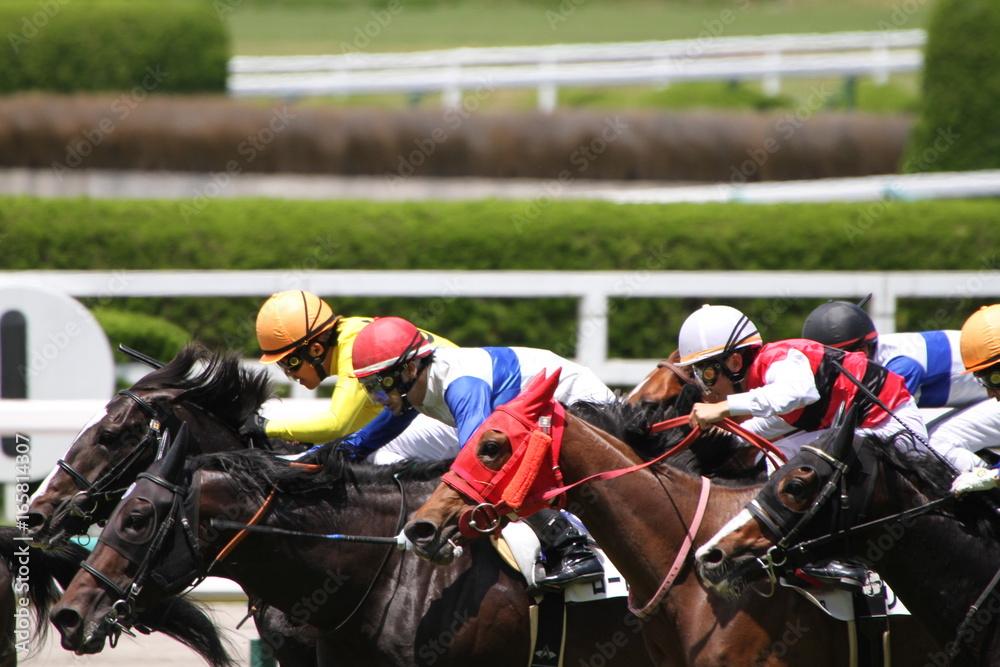 Plakat  Wyścig konny