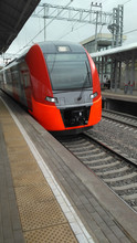 Red High-speed Train