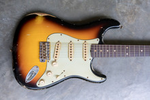 Vintage Sunburst Double Cutaway Guitar