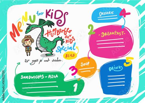 Vector kids menu template buy this stock vector and explore vector kids menu template maxwellsz