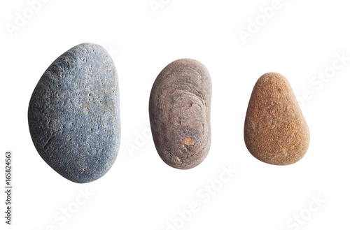 Fotomural Three oval colored pebbles