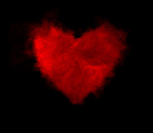 Smoke In The Form Of Heart