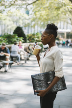Businesswoman In Bryant Park -...