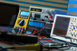 devices in electronics laboratory