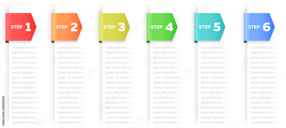 Fototapeta Steps or Process Infographic Element