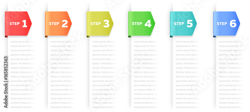 Fotografía Steps or Process Infographic Element
