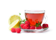 Red  Fruit Tea With Lemon And ...