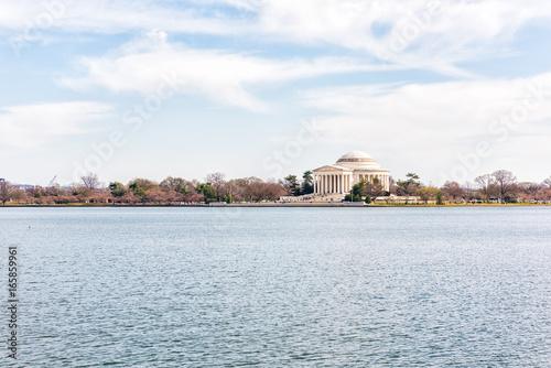 Fotografie, Obraz  Tidal Basin with Thomas Jefferson Memorial reflection in winter