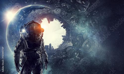 astronaut-in-fantasy-world-mixed-media