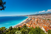 Top View On Nice, Cote D Azur, France.