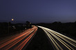 motorway highway road car light trails at night time australia