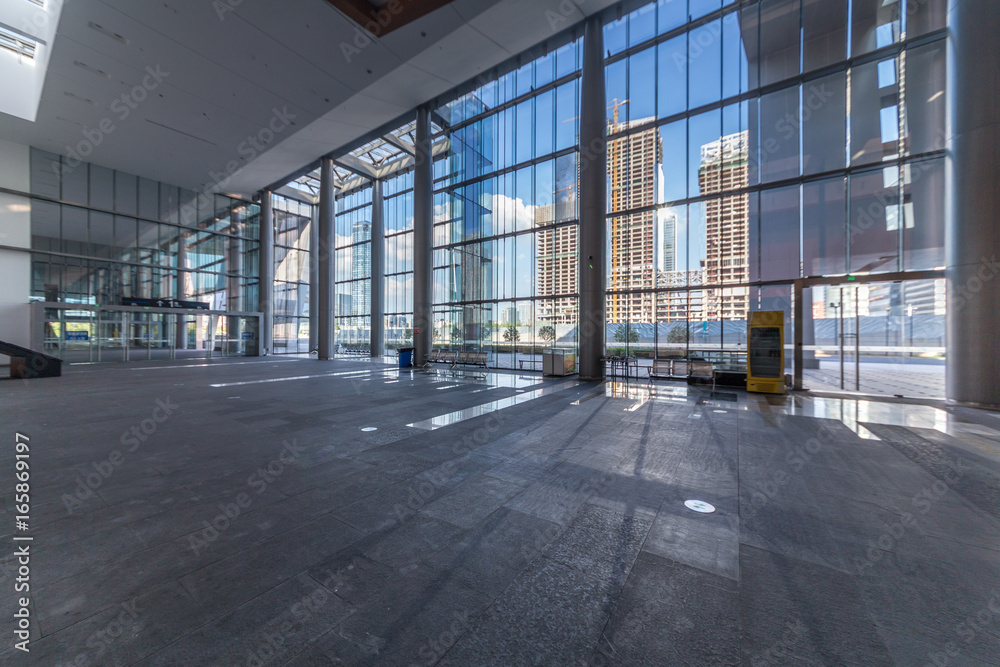 Fototapety, obrazy: empty hall in the modern office building