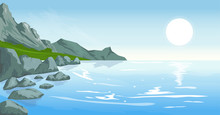 Seascape With Peaks