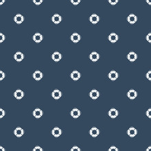Summer Seamless Pattern With Lifebuoys. Nautical Seamless Pattern With Anchors, Sailing Boat, Yachts And Steering Wheel.