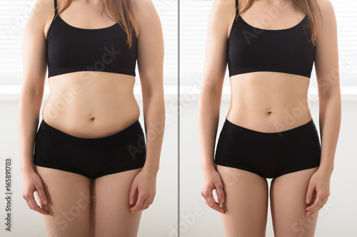 Fotografia  Before And After Diet Concept