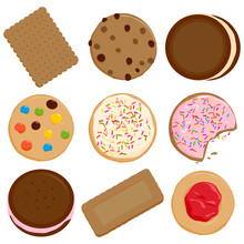 Cookies And Biscuits Vector Il...
