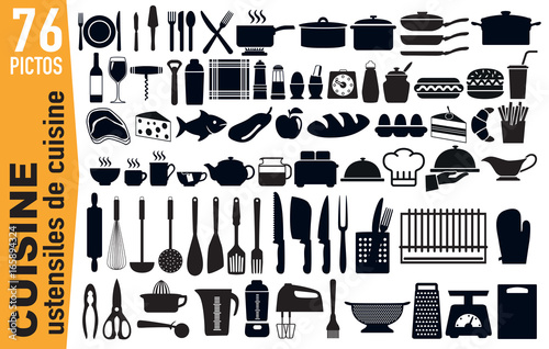Papel de parede  icône - cuisine - ustensile - cuisiner - matériel -cuisinier - pictogramme - ali
